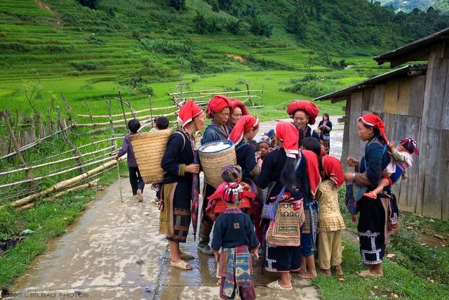 Red Dzao ethnic group in Ta Phin village. Sapa, Lao Cai province, Vietnam